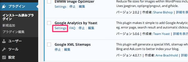 wordpressへのgoogleanalytics導入方法