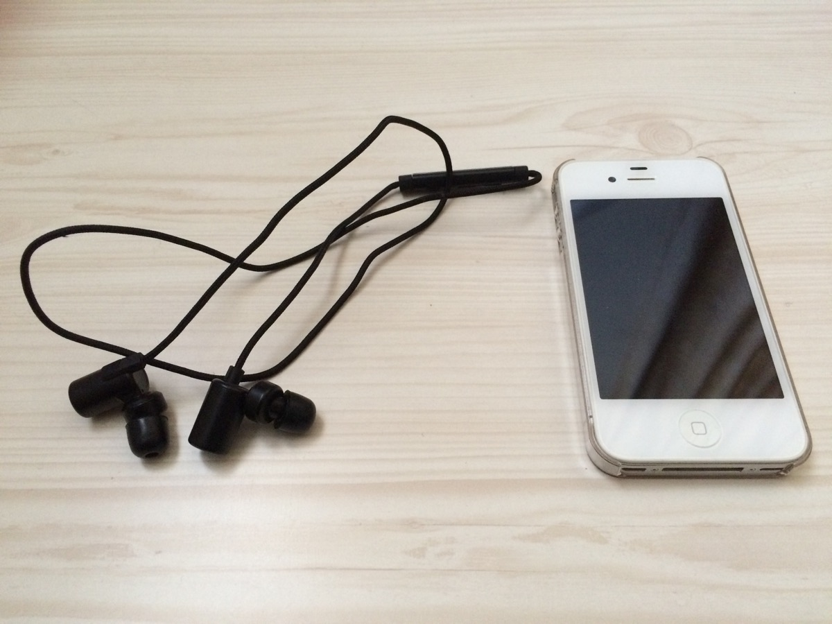 iPhoneとBluetoothイヤホン