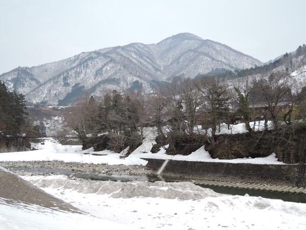 であい橋からの雪景色