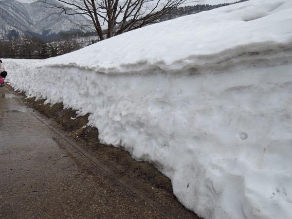 白川郷の積雪