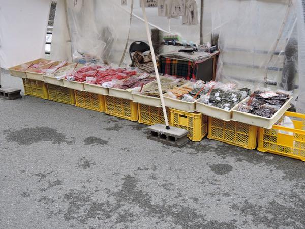 宮川朝市の野菜。
