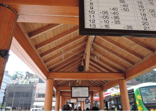 東武日光駅のバス乗り場