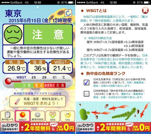 熱中症警戒iPhoneアプリ