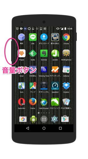 Nexus 5の音量ボタン