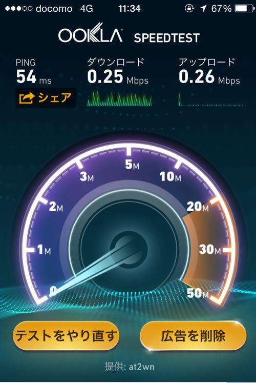 OCNモバイルONEの通信速度