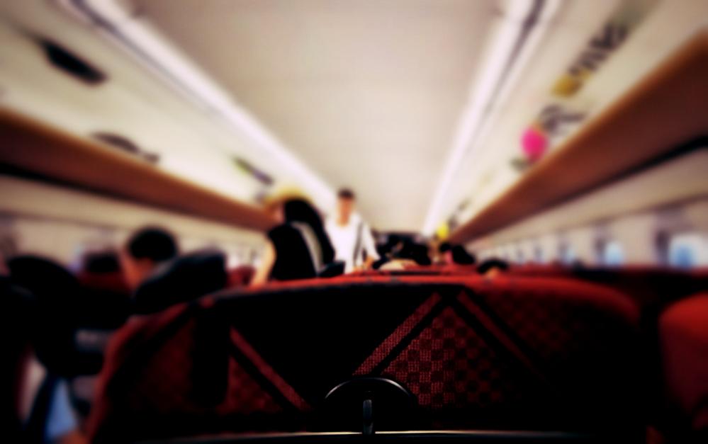 北陸新幹線の車内の様子