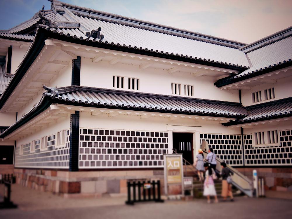 金沢城公園の菱櫓・五十間長屋・橋爪門続櫓