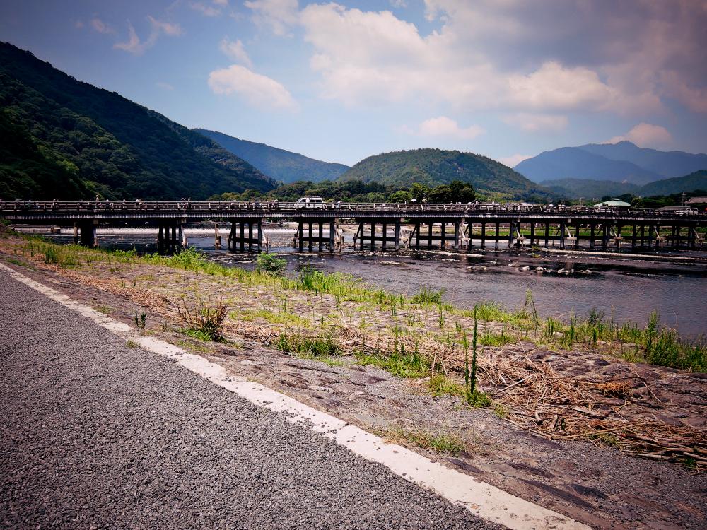 京都嵐山観光渡月橋