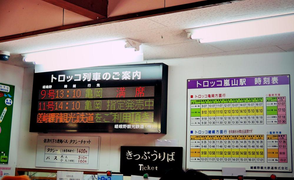 京都嵐山観光トロッコ嵐山駅