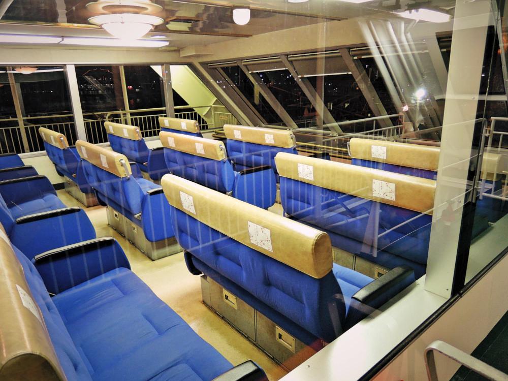JR宮島フェリー2階席