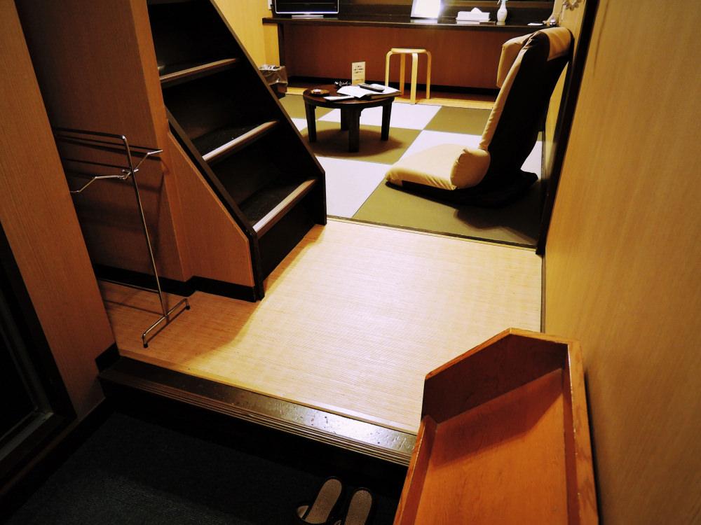 宮島のホテル 錦水別荘のロフト付プチ和室