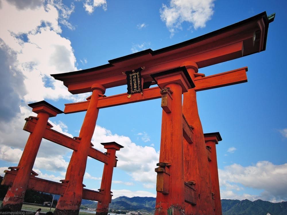 厳島神社干潮